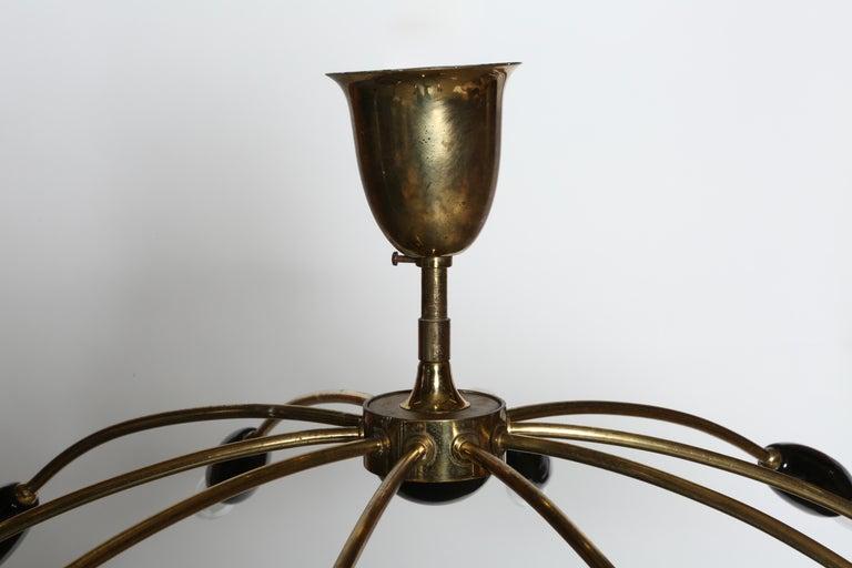 Sputnik Brass Chandelier For Sale 2
