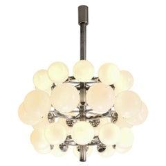 Sputnik Chandelier with Thirty Opaline Glass Globes