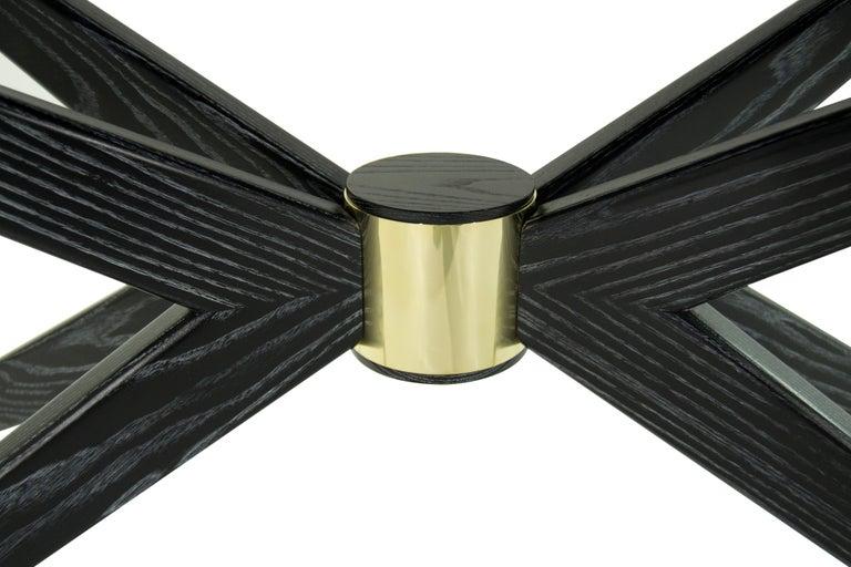 Sputnik Console Table in Black Ceruse For Sale 3
