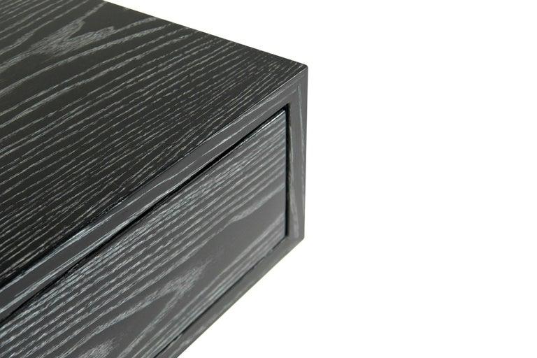 Sputnik Console Table in Black Ceruse For Sale 6