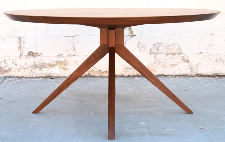 'Sputnik' Dining Table in Solid Walnut, Built to Order by Petersen Antiques For Sale 2