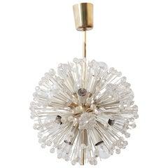 Sputnik Glas Blume Kronleuchter von Emil Stejnar für Rupert Nikoll, 1950er