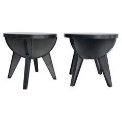 Sputnik Studio Industrial Recycled Steel Side Tables by Kevin Shahan