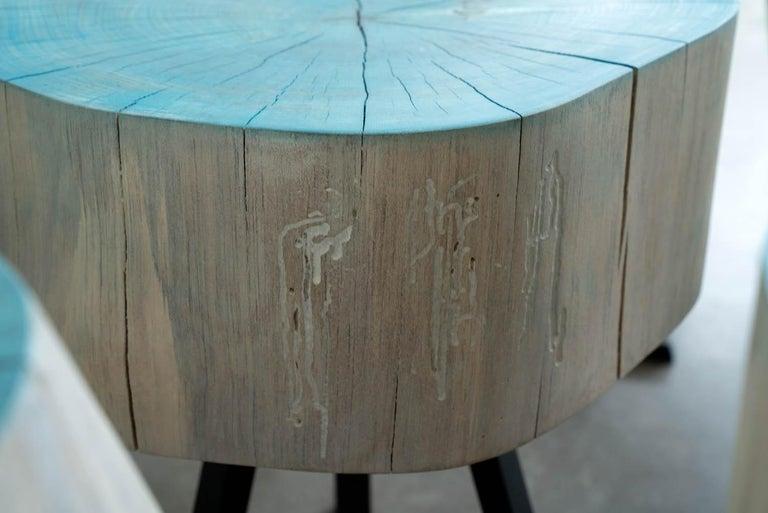 Woodwork Sputnik Coffee Table by Alabama Sawyer For Sale