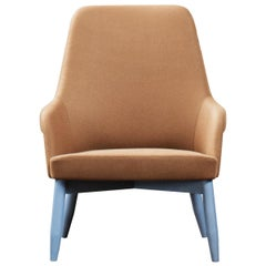 Spy 659 Brown and Blue Armchair by Emilio Nanni
