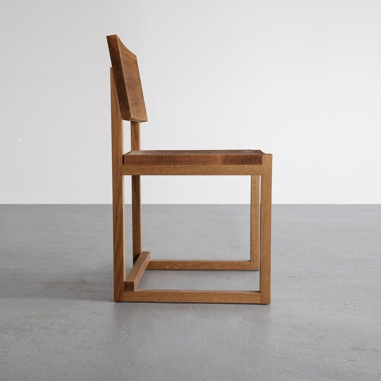 SQ Dining Chair, Maple Hardwood Side Chair In New Condition For Sale In Brooklyn, NY
