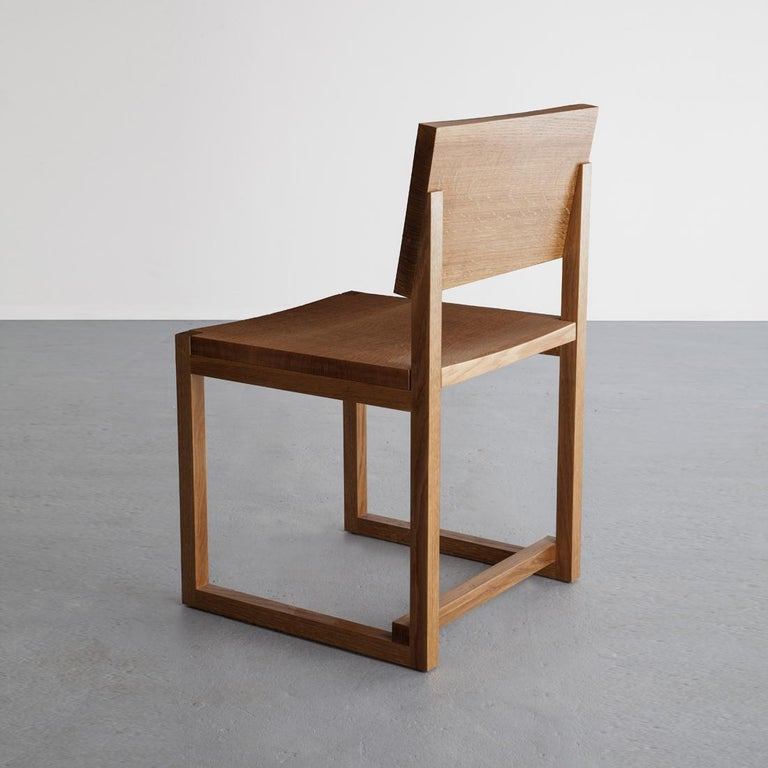 Contemporary SQ Dining Chair, Maple Hardwood Side Chair For Sale