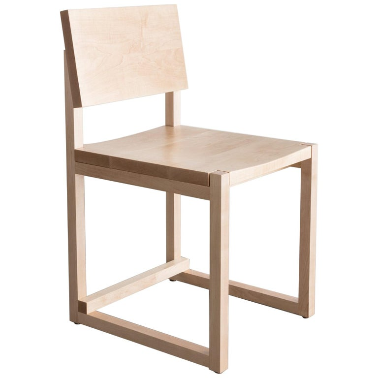 SQ Dining Chair, Maple Hardwood Side Chair For Sale