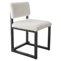 SQ Upholstered Dining Chair Special Edition, Solid Ash, Brass, Handmade in USA