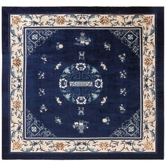 Square Antique Peking Chinese Rug. Size: 11 ft 6 in x 12 ft (3.51 m x 3.66 m)