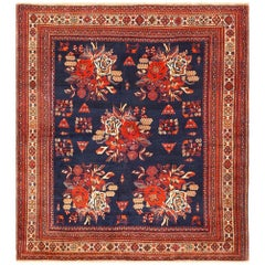 Square Antique Persian Afshar Rug. Size: 5 ft 2 in x 5 ft 8 in (1.57 m x 1.73 m)