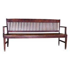 Square Back Courtroom Bench