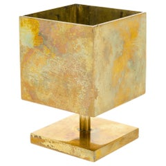 Square Brass Candleholder
