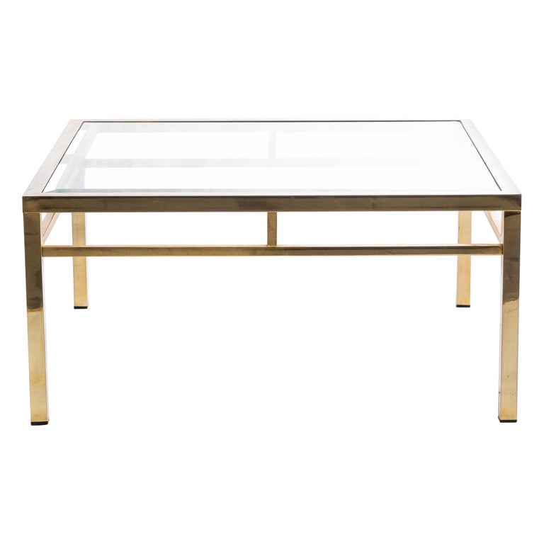Square Brass Coffee Table For Sale At 1stdibs