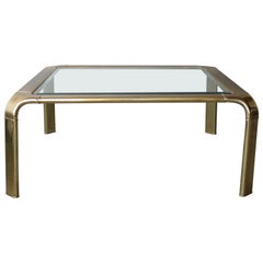 Square Brass Coffee Tables by Widdicomb
