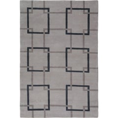 Square Chain Lead Hand-Knotted 10x8 Rug in Wool by The Rug Company