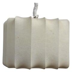 Square Cocoon Midcentury Italian Design Castiglioni Style 1960s White