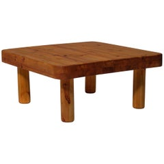 Square Coffee Table in Solid Pine