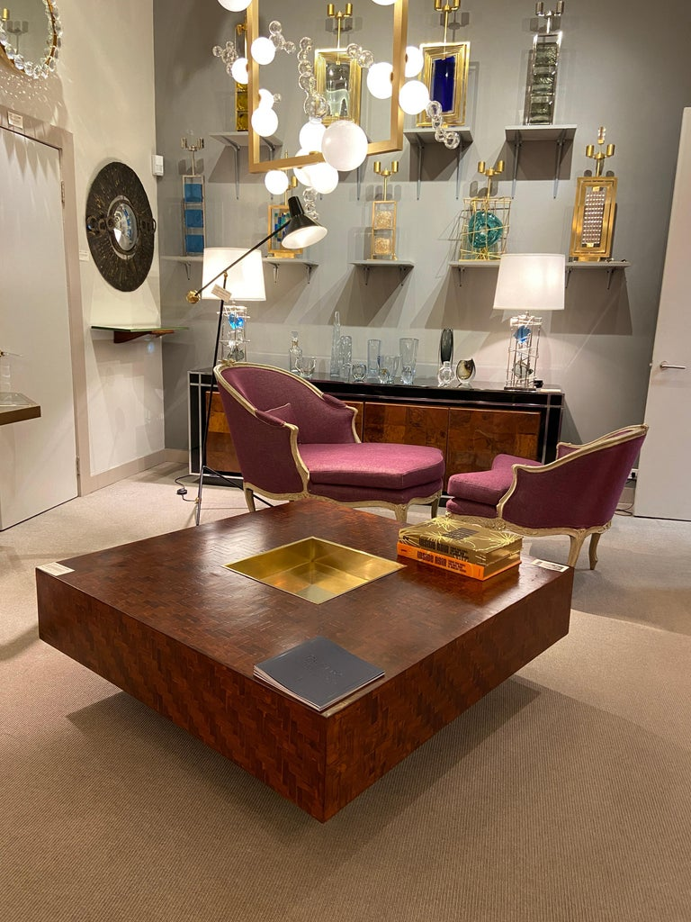 Mid-Century Modern Square Coffee Table, Italy, 1970s For Sale