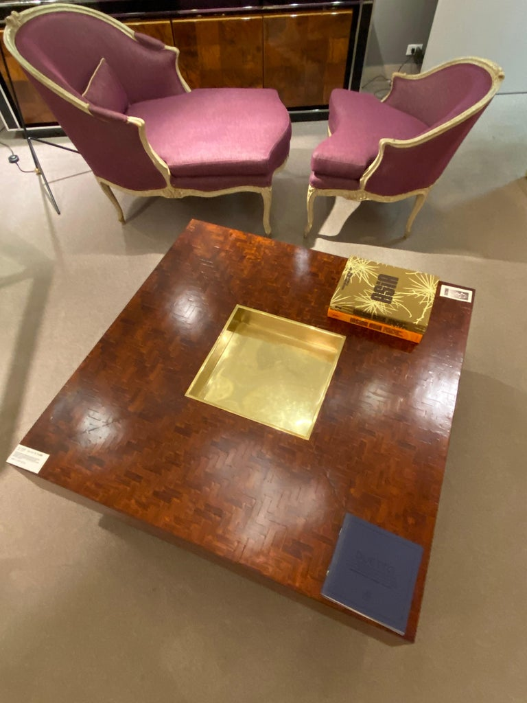 Square Coffee Table, Italy, 1970s In Good Condition For Sale In New York, NY