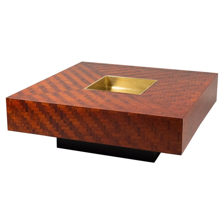 Square Coffee Table, Italy, 1970s For Sale