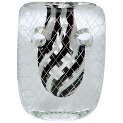 Square Crystal black and white Mask