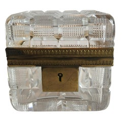 Square Cut Crystal Glass Box