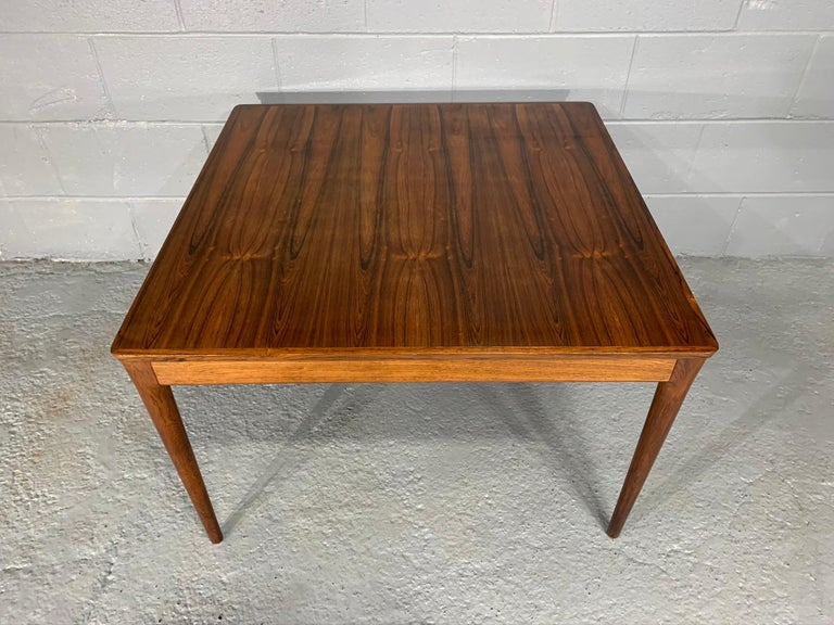 Mid-Century Modern Square Danish Modern Mid-Century Rosewood Coffee Table For Sale