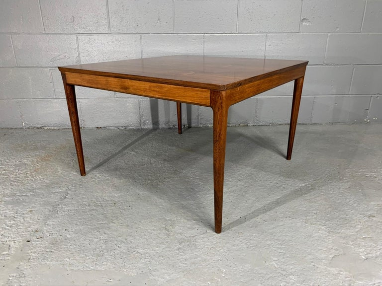 20th Century Square Danish Modern Mid-Century Rosewood Coffee Table For Sale