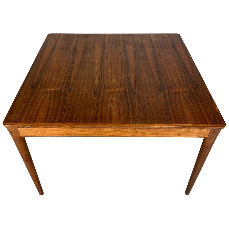 Square Danish Modern Midcentury Rosewood Coffee Table by Uldum Møbelfabrik