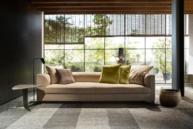 Modern Molteni&C Square Decorative Cushion Olive Velvet For Sale