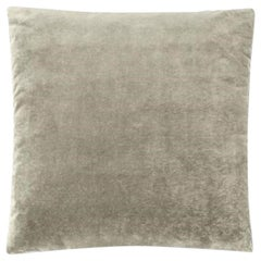 Molteni&C Square Decorative Cushion Light Grey Velvet