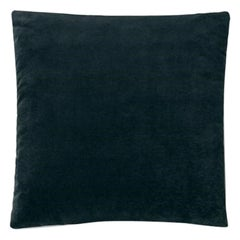 Molteni&C Square Decorative Cushion Petroleum Blue Velvet