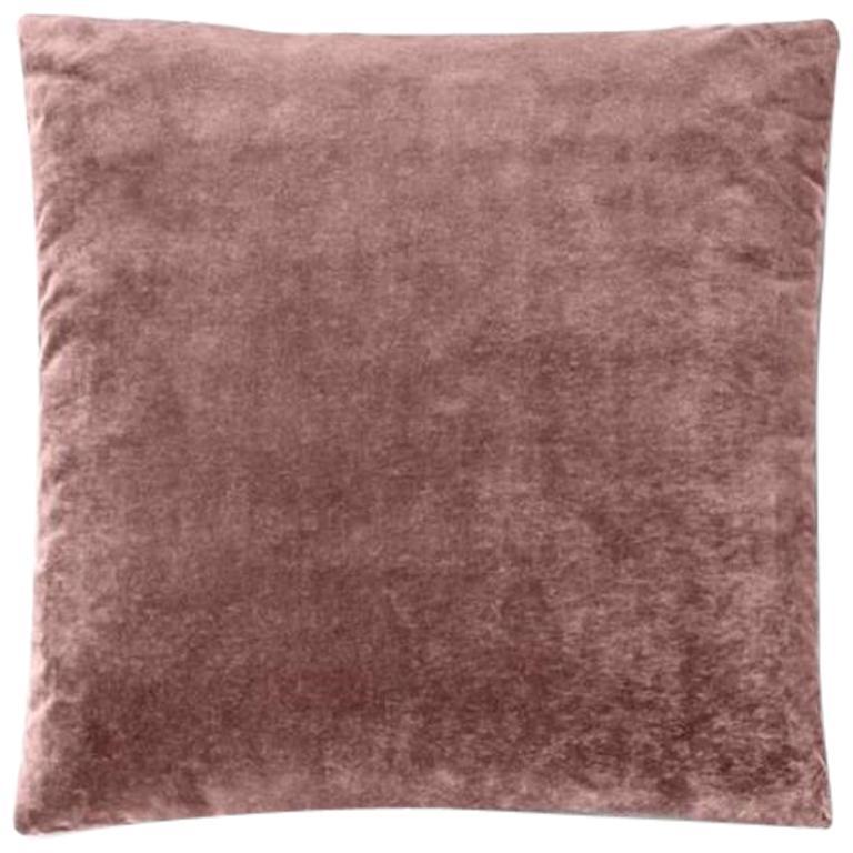 Molteni&C Square Decorative Cushion Pink Velvet For Sale