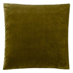 Molteni&C Square Decorative Cushion Olive Velvet