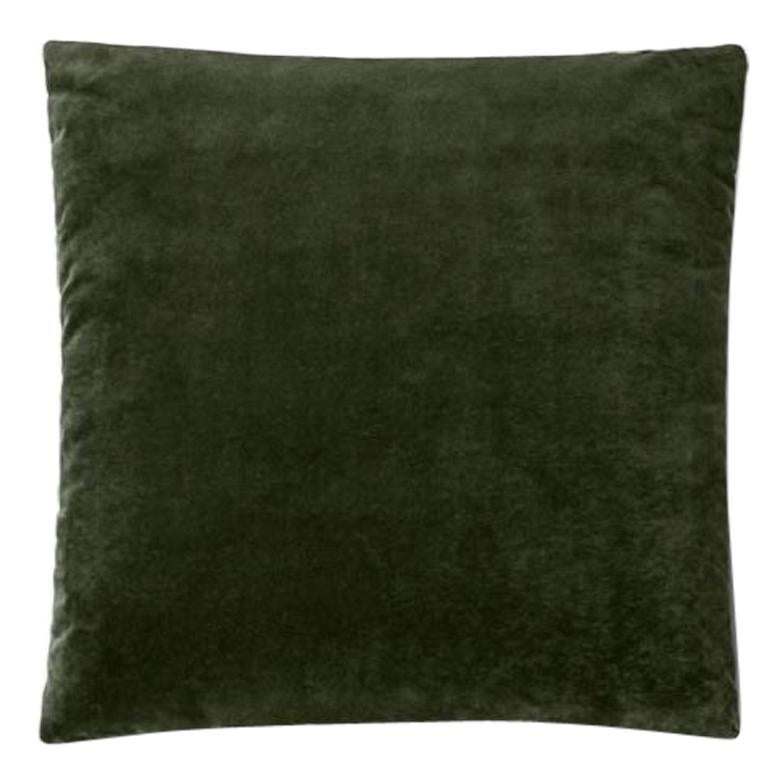 Molteni&C Square Decorative Cushion Green Velvet