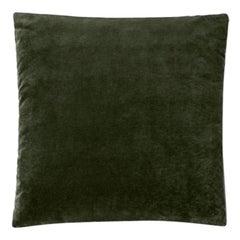 Molteni&C Square Decorative Cushion Green Velvet