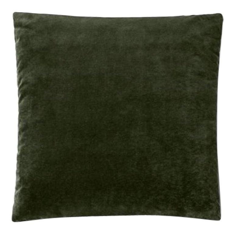 Molteni&C Square Decorative Cushion Green Velvet For Sale