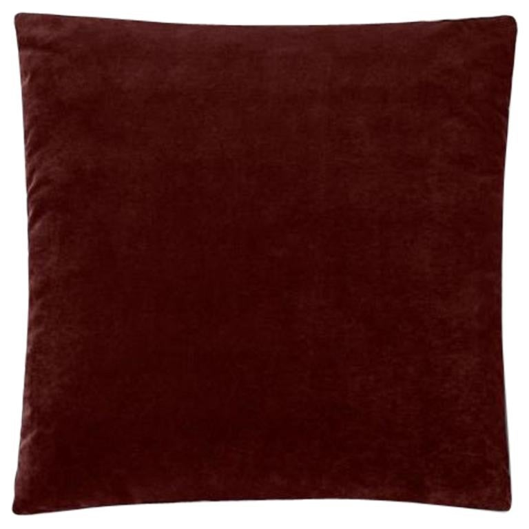 Molteni&C Square Decorative Cushion Red Velvet