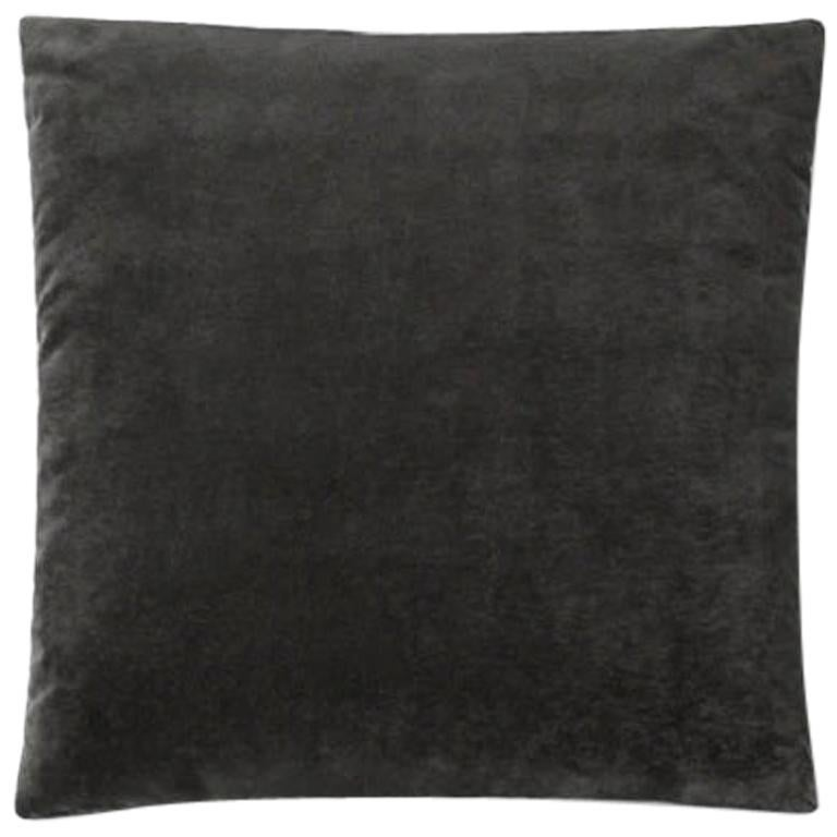 Molteni&C Square Decorative Cushion Black Velvet For Sale