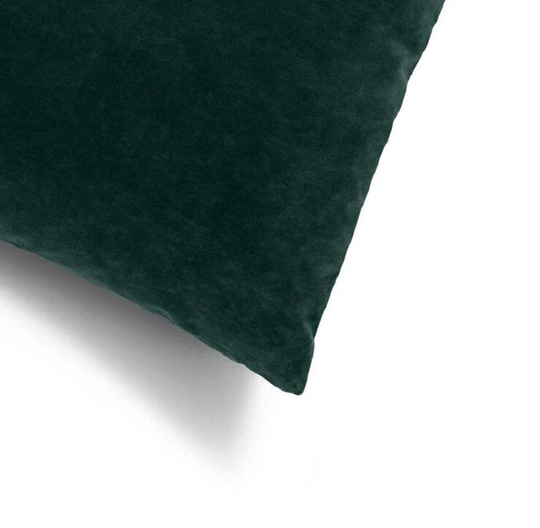 Soft and cozy cotton velvet decorative cushion perfect to create a layered effect on your upholstery interiors