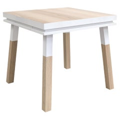 Square Desk in Ash Wood Designed by Eric Gizard, 100% Made in France