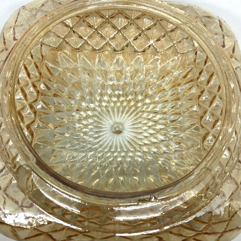 Square Diamond Shaped Glass Flush Mount Ceiling Light Honsel Leuchten, Germany For Sale 4