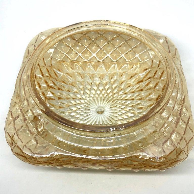 Square Diamond Shaped Glass Flush Mount Ceiling Light Honsel Leuchten, Germany For Sale 3