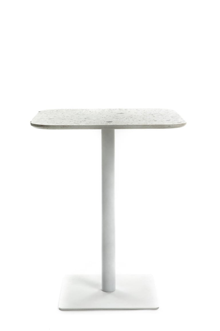 Chinese Square Dining Table 'i' in Black Terrazzo For Sale