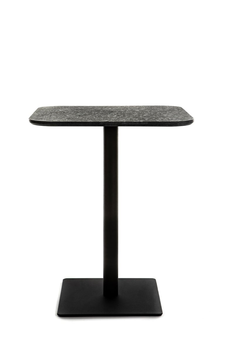 Chinese Square Dining Table 'I' in White Terrazzo For Sale