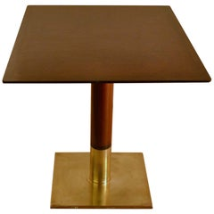 Square Dining Table on Centre Base and Bronze Foot