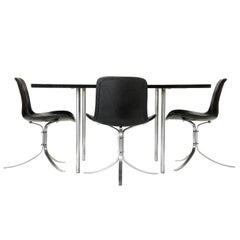 Square Dining Table with Leaves by Poul Kjaerholm