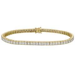 Square Emerald-Cut Diamond Line Bracelet '6 Carat'