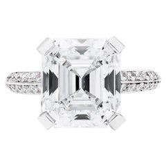 Neil Lane Couture Square Emerald-Cut Diamond, Platinum Engagement Ring
